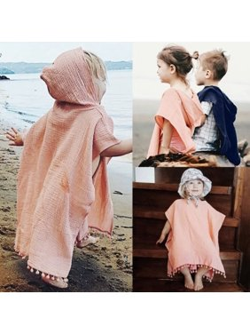 Fashion Newborn Kids Baby Girl Cape Wrap Shawl Tassel Hooded Poncho Cloak Jumper