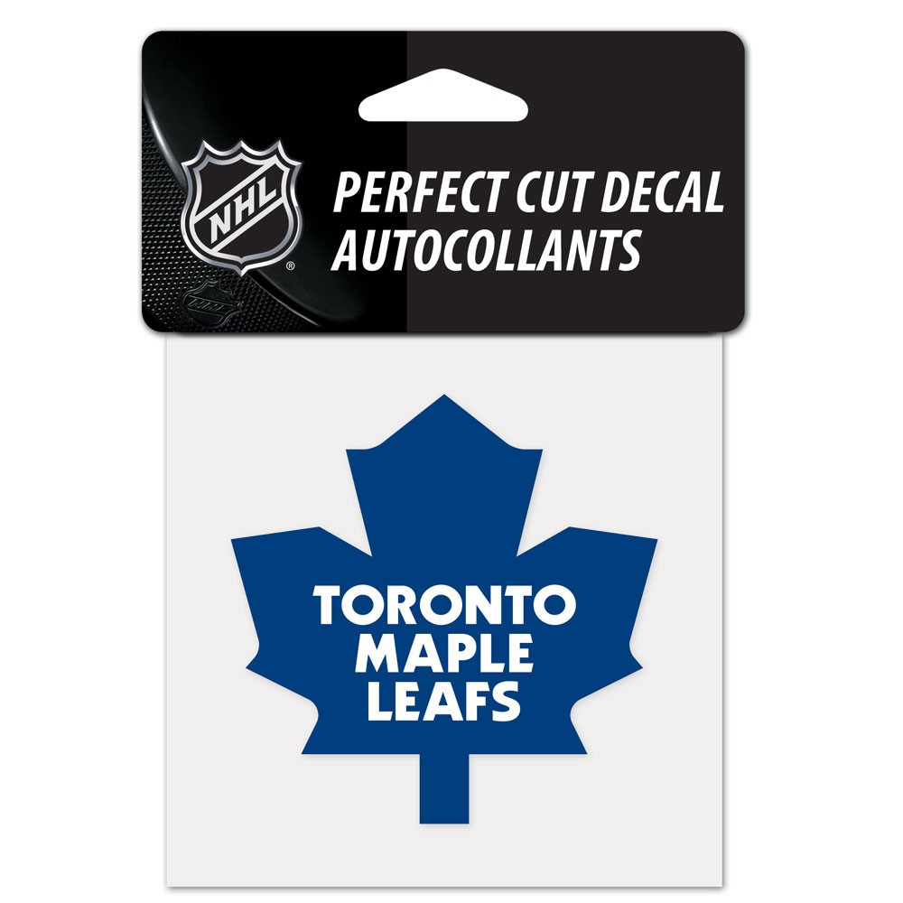 Toronto Maple Leafs Official NHL 4 inch x 4 inch  Die Cut Car Decal by Wincraft