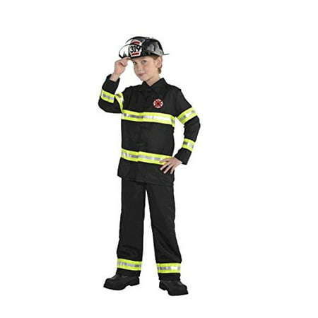 Amscan Boys Little Boy's Firefighter Halloween Costume Black (Medium, Black) for $<!---->