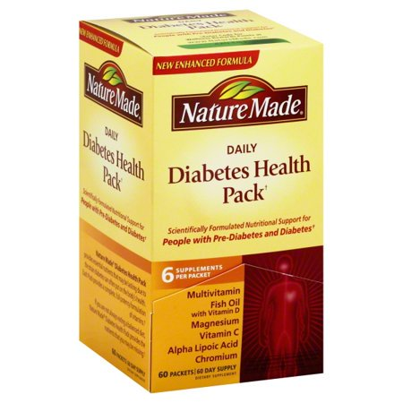 Nature Made Daily Diabetes Health Pack, 60 Packets, 60 Day Supply (Daily Vitality Pack)