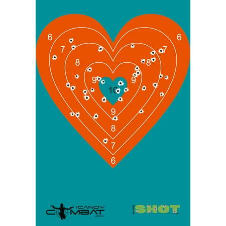 Paper bullseye targets compare prices at nextag 100 pack orange heart bullseye paper splatter target altavistaventures Image collections