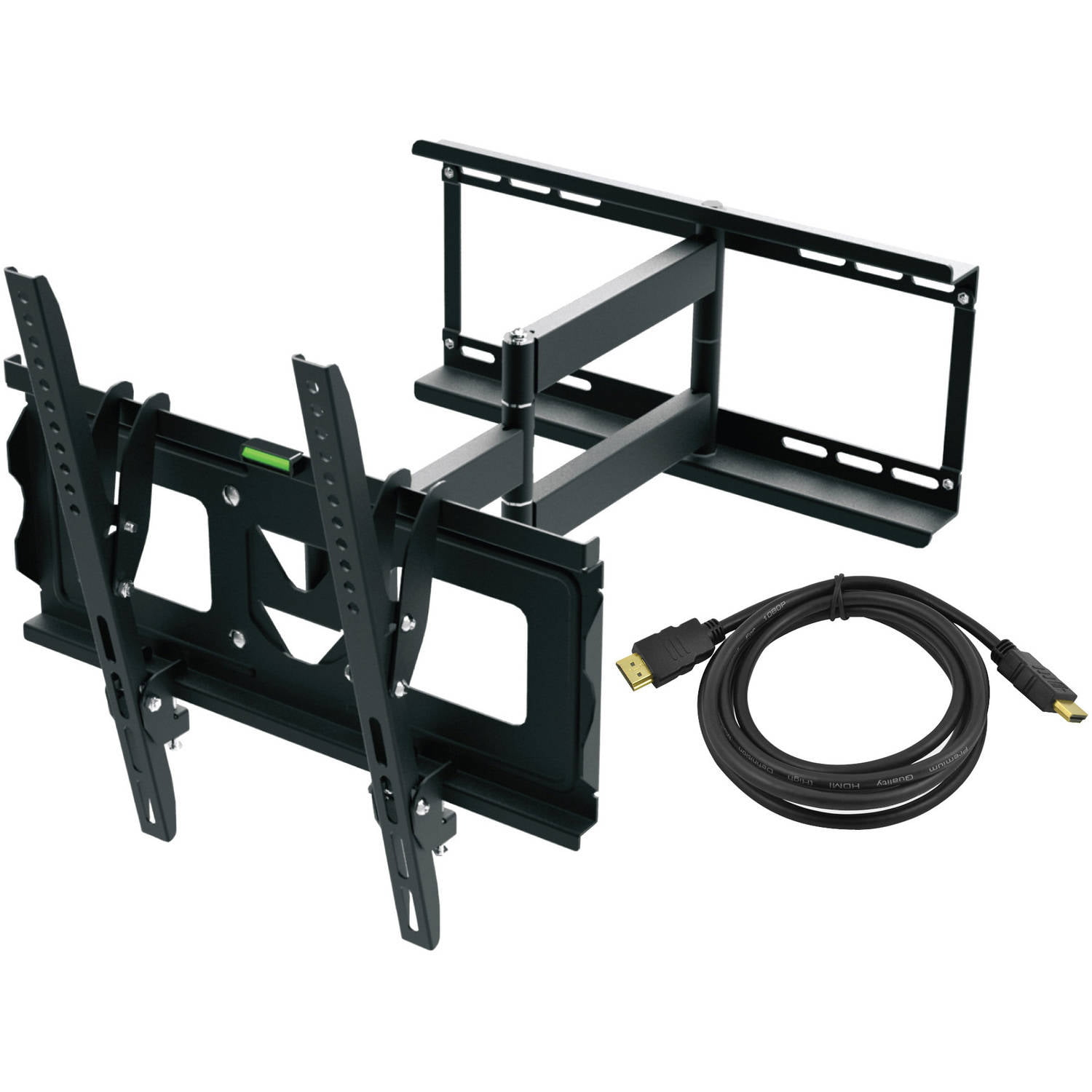 "Ematic Full Motion TV Wall Mount Kit with HDMI Cable for 19"" 70"