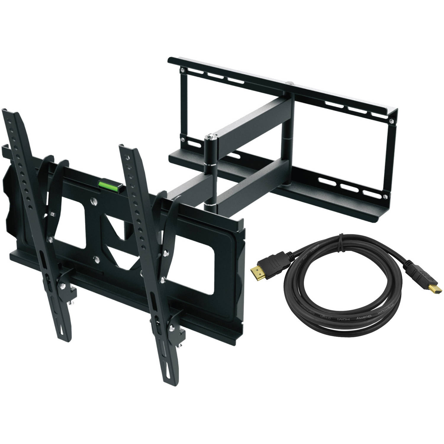 "Ematic Full Motion TV Wall Mount Kit with HDMI Cable for 19"" - 70"" Displays"