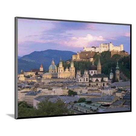 Kollegienkirche and Cathedral in Old Town, Salzburg, Austria Wood Mounted Print Wall Art By Gavin Hellier