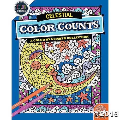 Color By Number Color Counts: Celestial - Coloring Books - 1 Piece - Walmart.com  - Walmart.com