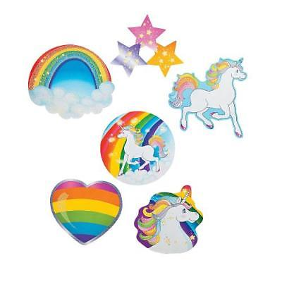 IN-70/9234 Unicorn Party Glitter Cutouts 1 Set(s)