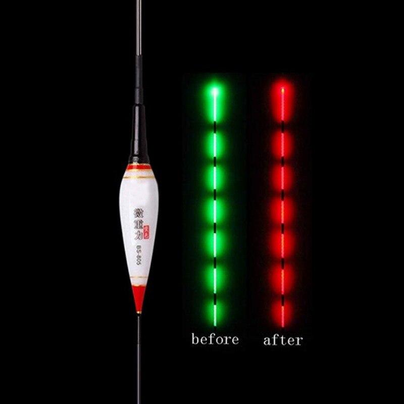 Smart Fishing Float Bite Alarm Fish Bite Bait LED Light Color Change Automatic
