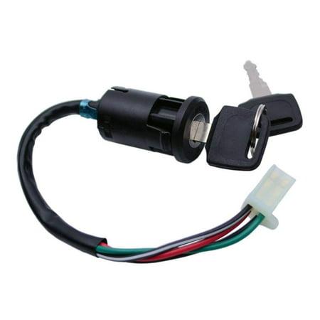 Universal Motorbike Electric Key Ignition Start Switch Lock Barrel with 4 Wire - image 3 de 3