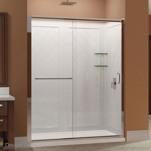 "Dreamline DL-6118-FR Infinity-Z 76-3/4"" High x 60"" Wide Sliding Framed Shower Do"