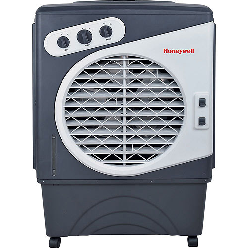 Honeywell 125-Pint Commercial Indoor/Outdoor Portable Evaporative Air Cooler, White/Gray, CO60PM