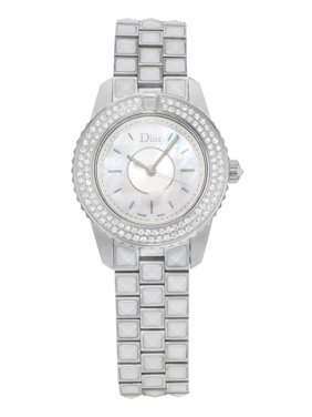 Dior Christian Christal CD112118M003 Steel & Diamonds Quartz Ladies Watch (Display Model)