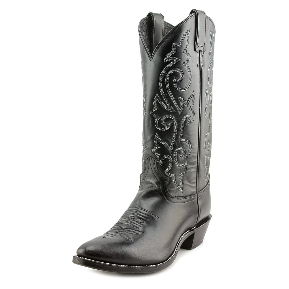 "Justin Boots 13"" London Calf Men 3E Pointed Toe Leather Black Western Boot by Justin Boots"