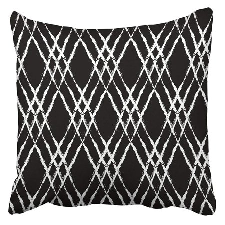 BSDHOME Bold Plaid with Thin Brushstrokes and Stripes Hand in Bright Red Green Blue Colors Pillowcase Cushion Cover 16x16 inch - image 1 of 1