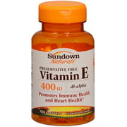 Sundown Vitamin E 400 IU Softgels DL-Alpha 100 Soft Gels (Pack of 2)