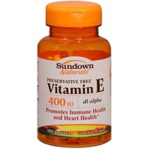 Vitamins & Supplements: Sundown Naturals Vitamin E