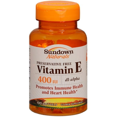 2 Pack - Sundown Vitamin E 400 IU Softgels DL-Alpha 100 Soft Gels ()