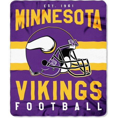 Nfl Minnesota Vikings   Singular   50   X 60   Fleece Throw