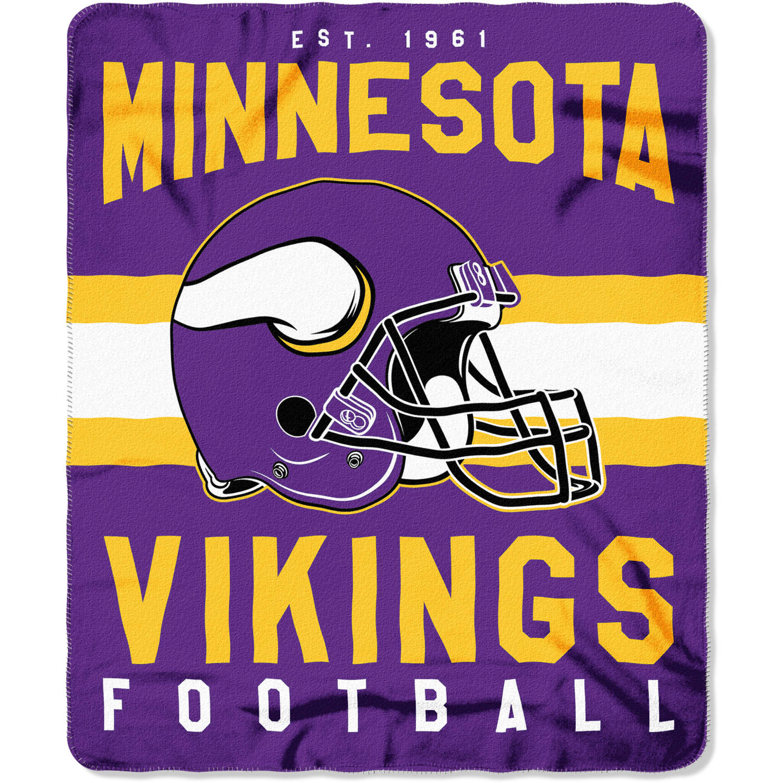 "NFL Minnesota Vikings ""Singular"" 50"" x 60"" Fleece Throw"