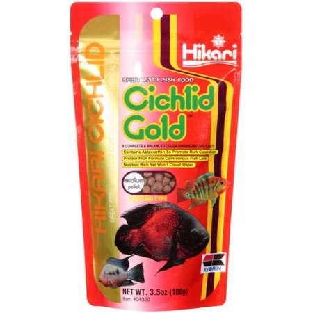 Hikari Cichlid: Medium Pellet Cichlid Gold Specialists' Fish Food, 3.5 Oz Aquarium Fish Food Pellets