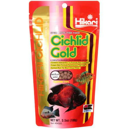 Hikari Cichlid: Medium Pellet Cichlid Gold Specialists' Fish Food, 3.5 (Hikari Goldfish Pellets)