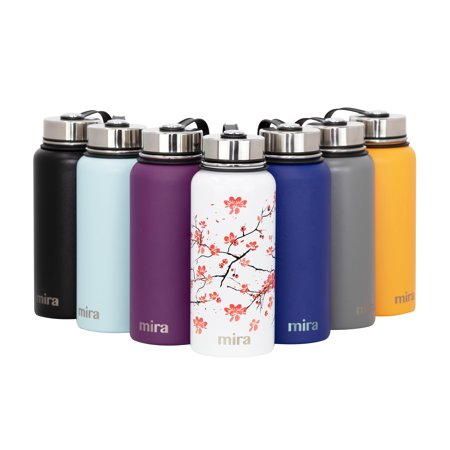 11c9da70fd MIRA 32 Oz Stainless Steel Vacuum Insulated Wide Mouth Water Bottle |  Thermos Keeps Cold for 24 hours, Hot for 12 hours | Double Walled Travel  Flask ...