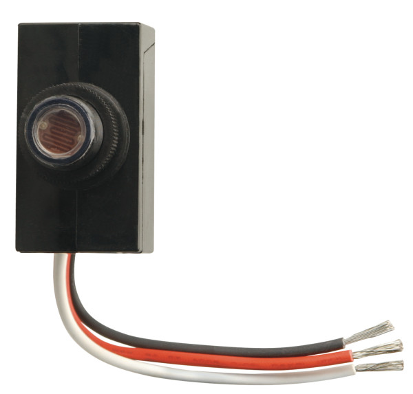 woods 59408 dusk to dawn button style photocell, black walmart com  dusk to dawn control wiring diagram for garage #15