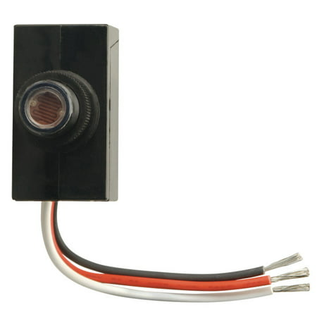 Woods 59408 Dusk to Dawn Button Style Photocell, Black