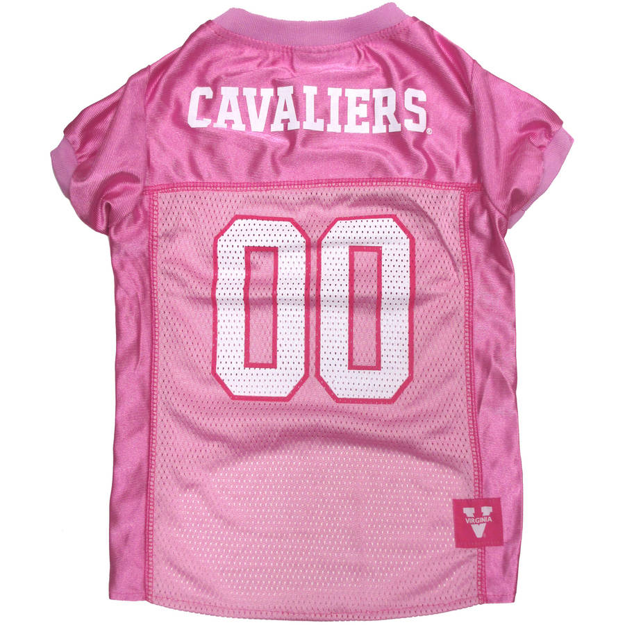 Pets First College Virginia Cavaliers Pet Pink Jersey, 4 Sizes Available