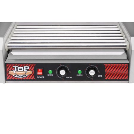 Great Northern Commercial Quality 18 Hot Dog and 7 Roller Grilling Machine, 1400-Watt