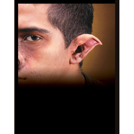 Latex Costume Accessory Evil Orc Elf Ears - Prosthetic Chin Halloween