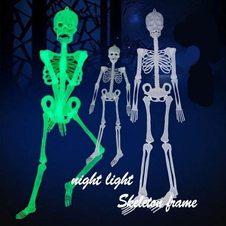 MIARHB 30cm Luminous Skull Skeleton Body Scary Halloween Toy Haunted House Tricky Prop