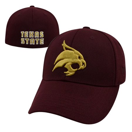 designer fashion 360c1 a8c6f Top of the World - Texas State Bobcats Official NCAA One Fit Premium Cuff Hat  Cap by Top of the World 349473 - Walmart.com