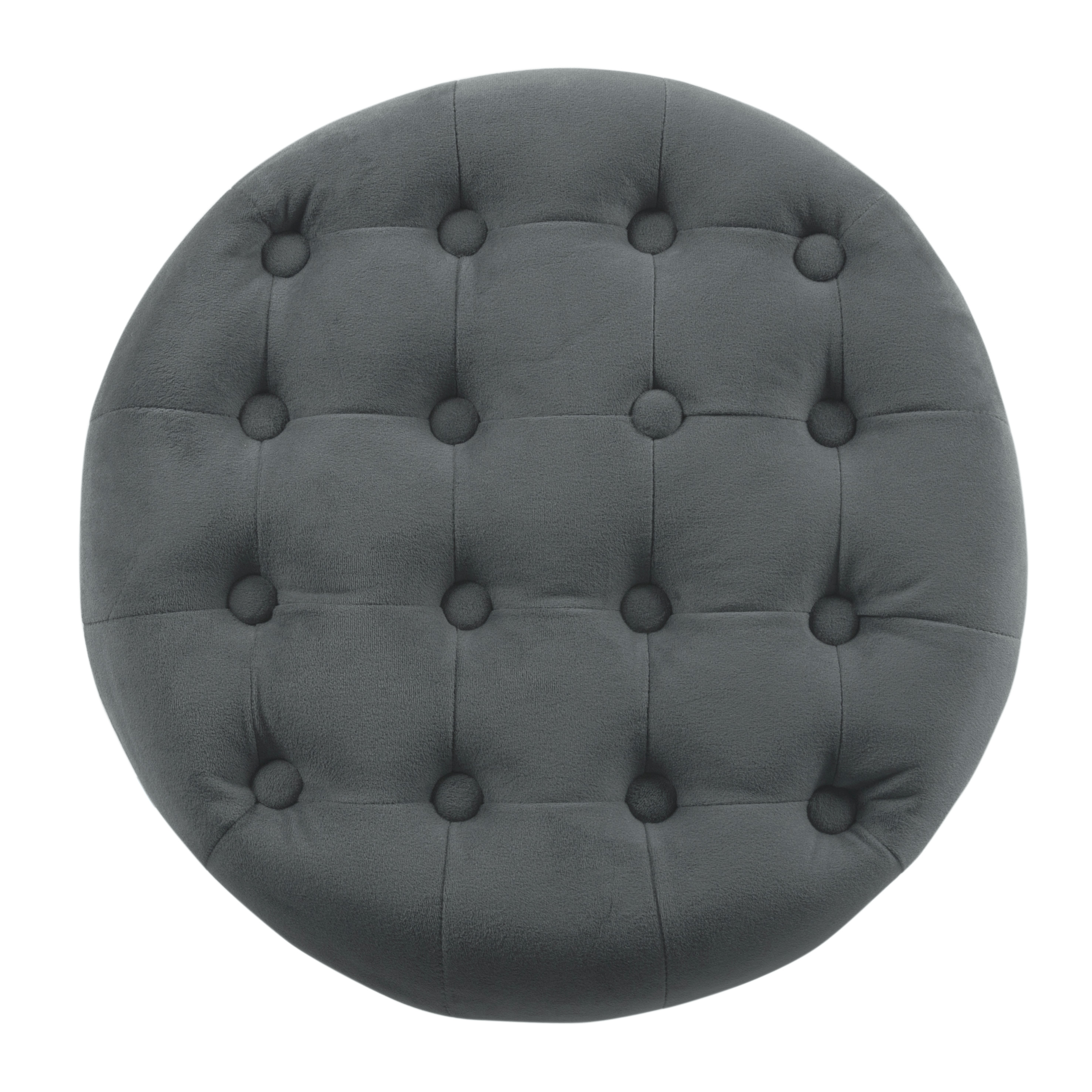 Admirable Homepop Tufted Round Ottoman With Storage Multiple Colors Theyellowbook Wood Chair Design Ideas Theyellowbookinfo