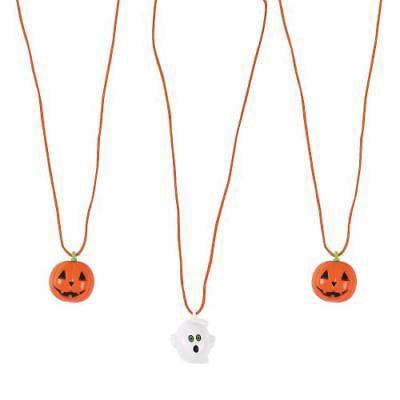 IN-13704157 Halloween Blinking Necklaces Per Dozen (Halloween Reflector Necklaces)