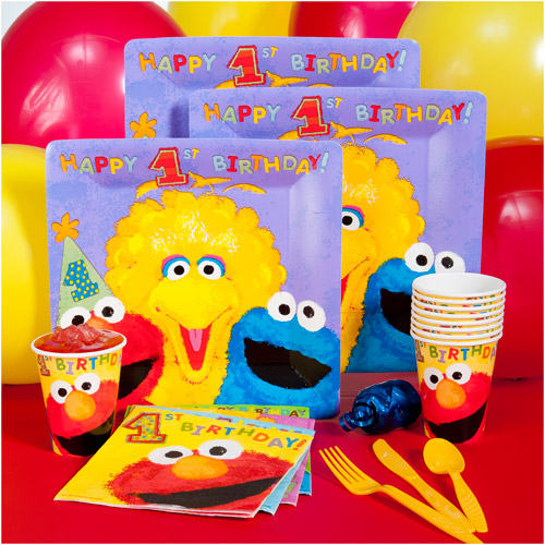 Sesame Street 1st Birthday Kit-N-Kaboodle Party Pack for 8