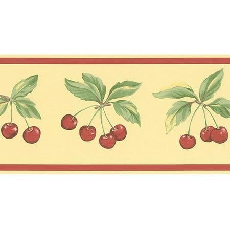 Cherry Wallpaper - 878910 Cherries Wallpaper Border FK78463