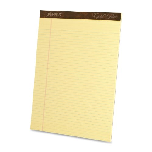 "Ampad Gold Fibre Premium Legal-ruled Writing Pad 50 SHeet 16 Lb Legal wide Ruled 8.50"" X 11.75"" 12  ... by Ampad"