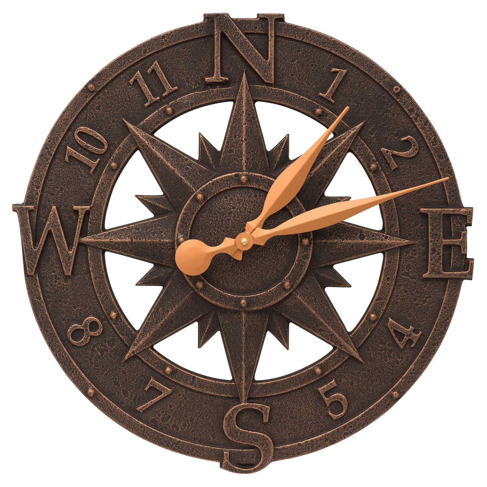 Whitehall Products Compass Rose 16-in. Indoor/Outdoor Wall Clock