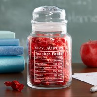 Personalized Teacher Facts Treat Jar