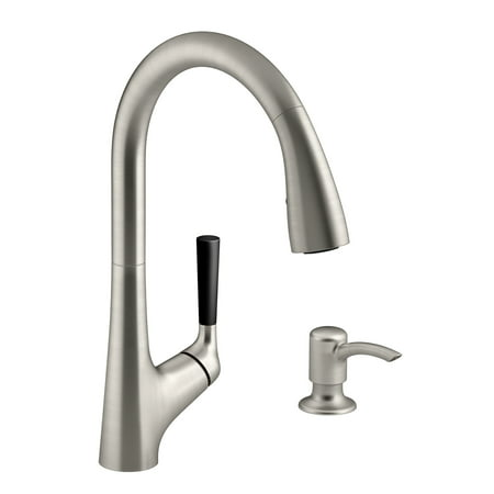 Kohler Beverage Faucet - Kohler R562-SD-VS Vibrant Stainless Steel Malleco Pull-Down Kitchen Faucet Kit