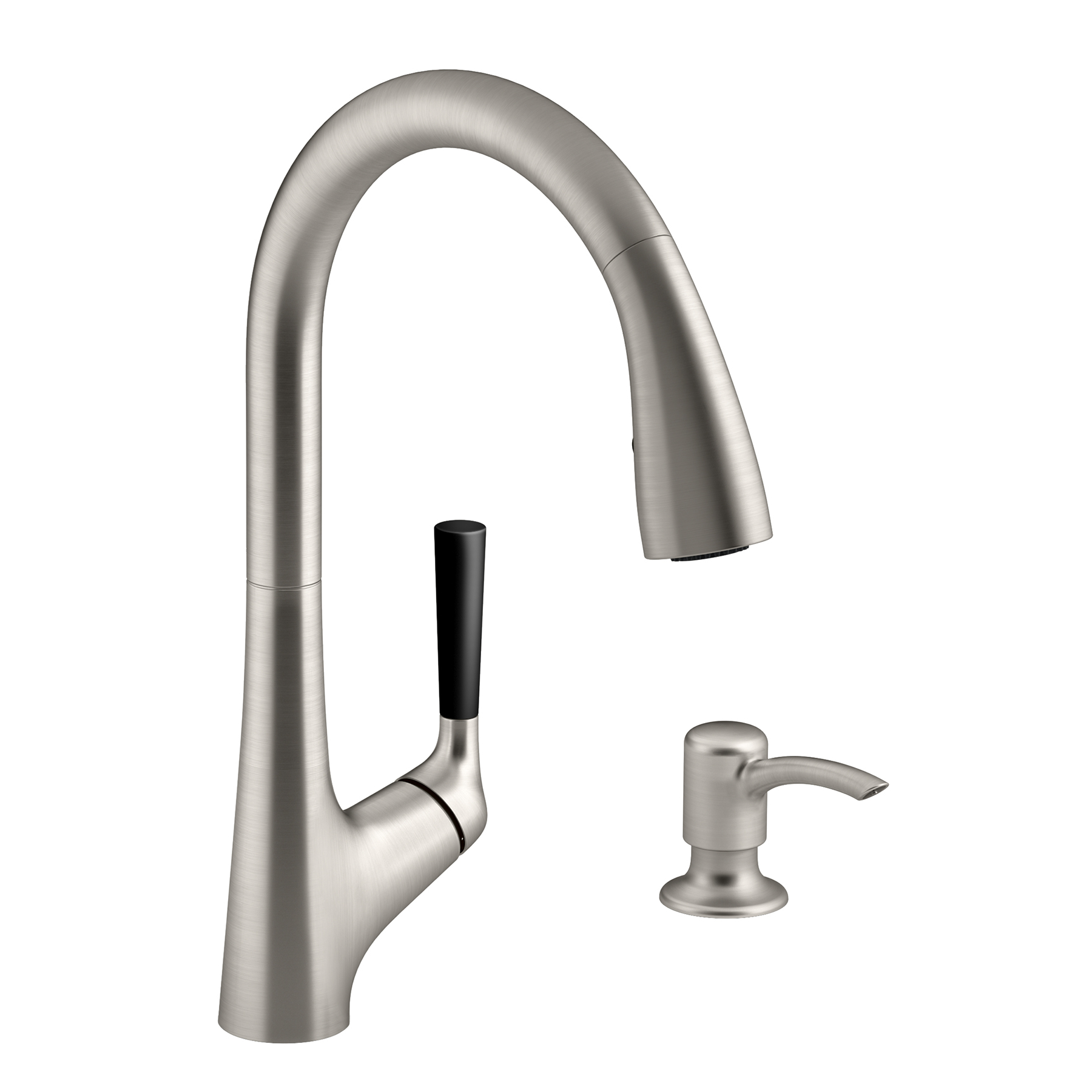Kohler R562 SD VS Vibrant Stainless Steel Malleco™ Pull Down Kitchen Faucet  Kit   Walmart.com