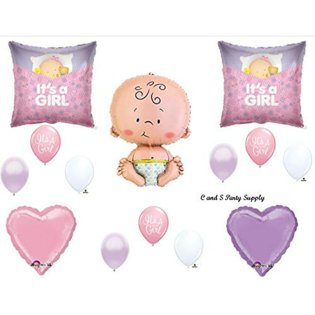 IT'S A GIRL SLEEPING BABY SHOWER Balloons Decorations Supplies](Baby Shower Balloons For Girls)