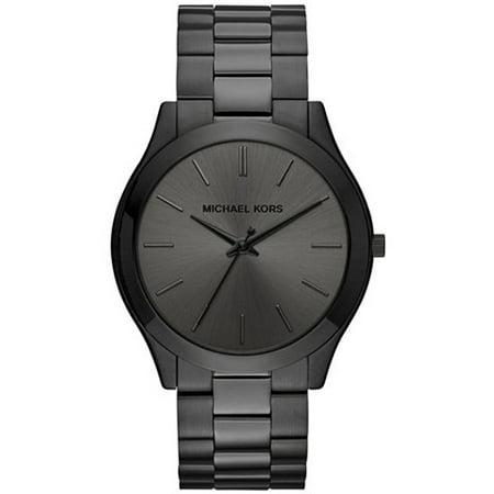 Michael Kors Unisex Slim Runway Bracelet Watch, 44mm, (Michael Kors Black On Black)