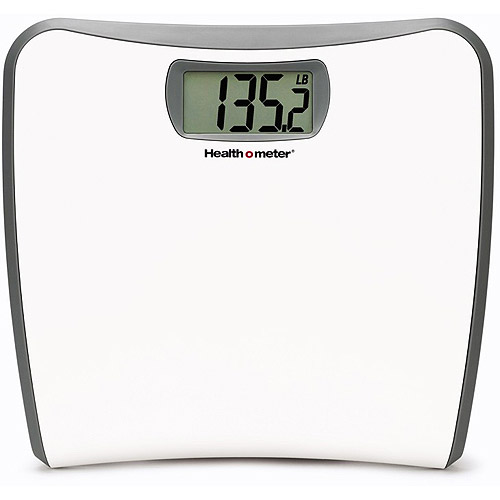 Healthometer White Slim Profile LCD Digital Bath Scale