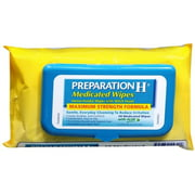 Preparation H Medicated Wipes 48 Each (Pack of 4)