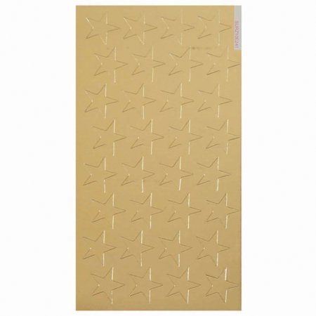 Foil Embossed Scrapbook Stickers - STICKERS FOIL STARS 1/2 IN 250/PK GOLD
