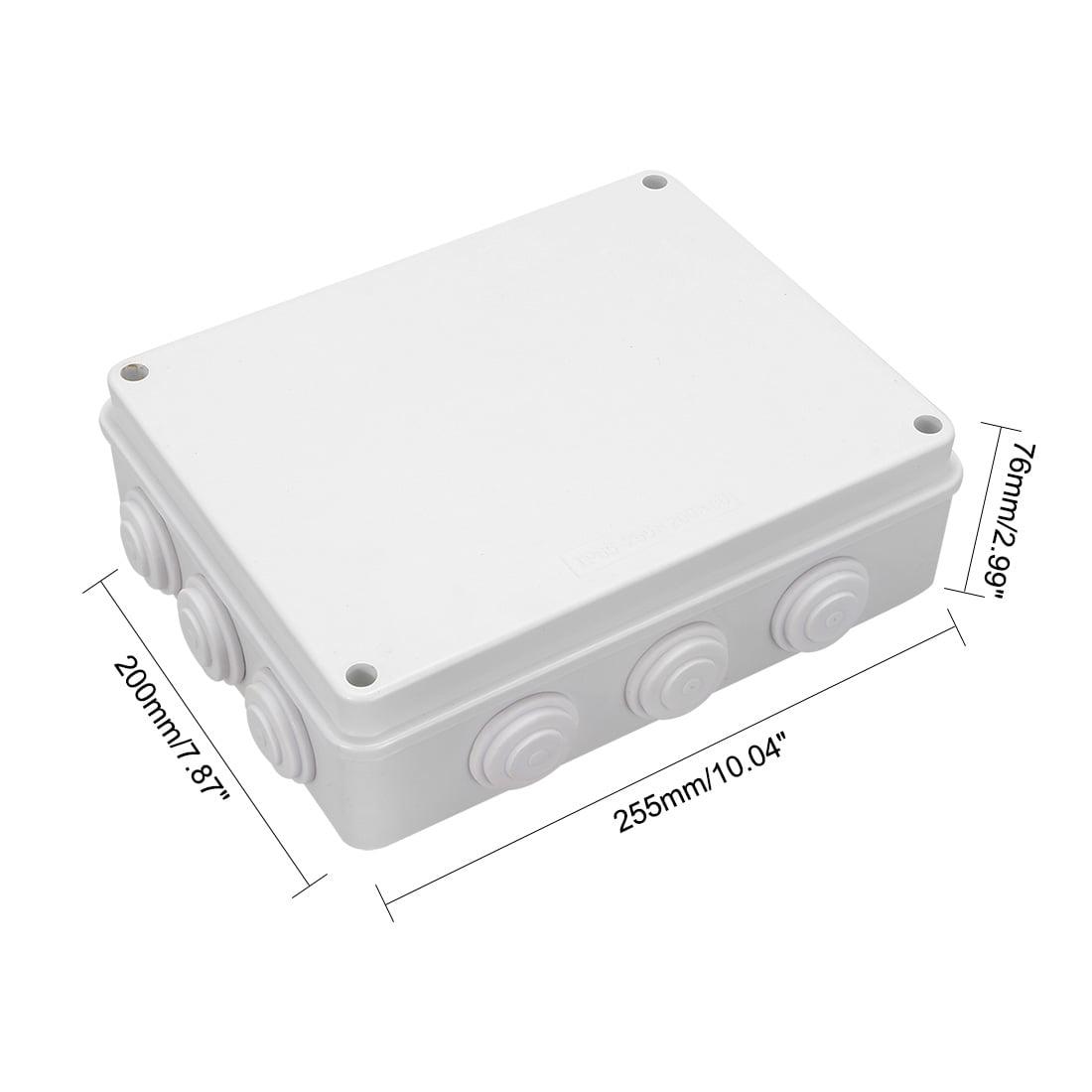 """Unique Bargains 10.04"""" x 7.87"""" x 2.99"""" ABS Junction Box Universal Project Enclosure White - image 4 de 5"""