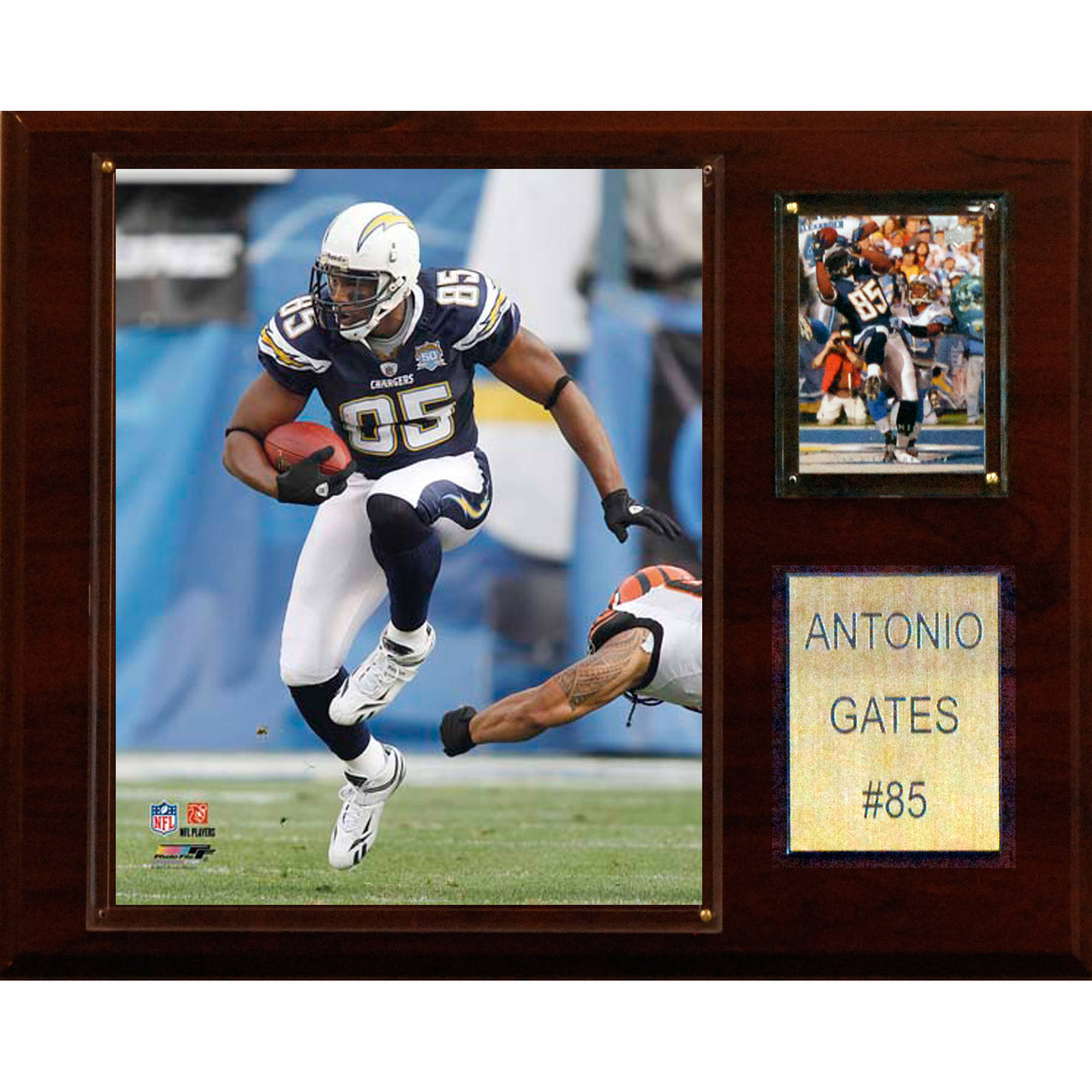 C&I Collectables NFL 12x15 Antonio Gates San Diego Chargers Player Plaque