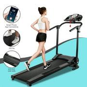 Folding Electric Treadmill Motorized Running Machine w/ APP, Cup Holder & MP3 Player