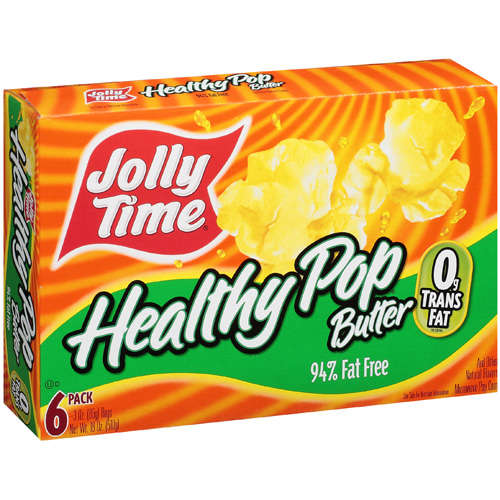 Jolly Time Healthy Pop Butter Microwave Popcorn, 18 oz